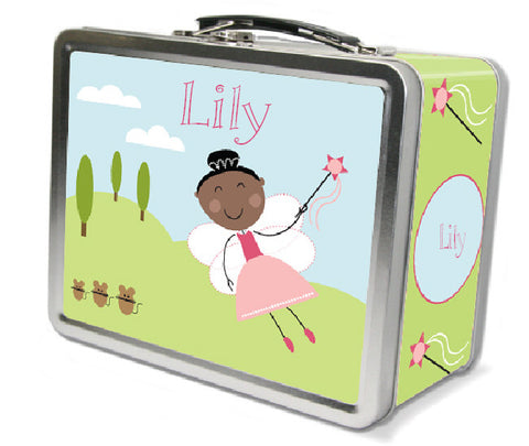 Black Hair Fairy Lunch Box
