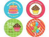 Birthday Gift Personalized Stickers - frecklebox