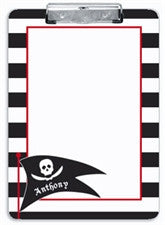 Black Pirate Clipboard - frecklebox
