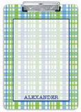 Blue Plaid Clipboard - frecklebox