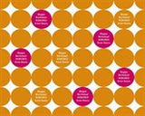 Citrus Dots Wrapping Paper 6ft - frecklebox