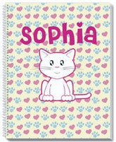 Cute Kitty Notebook - frecklebox