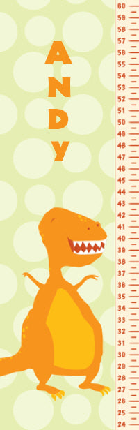 Frog Following Dino Growth Chart - frecklebox