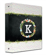 Floral Monogram Binder - frecklebox
