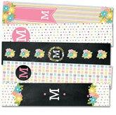 Floral Monogram Bookmarks - frecklebox