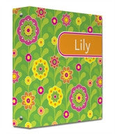 Flower Fields Binder - frecklebox