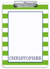 Green Stripe Clipboard - frecklebox