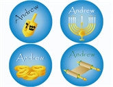 Hanukkah Personalized Stickers - frecklebox