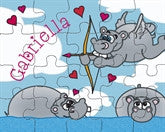 Hippo Cupid Puzzle - frecklebox