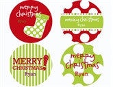 Holiday Pattern Personalized Stickers - frecklebox