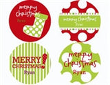 Holiday Pattern Personalized Stickers