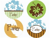 Hula Boy Personalized Stickers - frecklebox