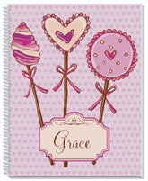 Lollipop Hearts Notebook - frecklebox
