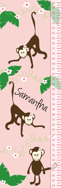 Miss Monkey Growth Chart - frecklebox