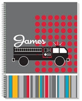 Mod Fire Truck Notebook - frecklebox