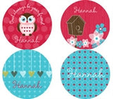 Owl Friends Personalized Stickers - frecklebox