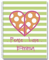 Peace and Love Notebook - frecklebox