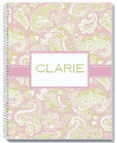 Pink Paisley Notebook - frecklebox