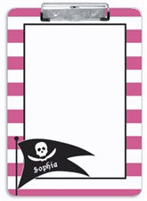 Pink Pirate Clipboard - frecklebox