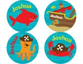 Pirate Fish Personalized Stickers - frecklebox