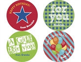 Primary Birthday Personalized Stickers - frecklebox