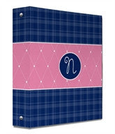 Quilted Monogram Binder - frecklebox