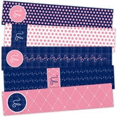 Quilted Monogram Bookmarks - frecklebox