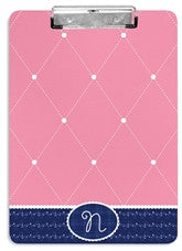 Quilted Monogram Clipboard - frecklebox