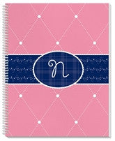 Quilted Monogram Notebook - frecklebox