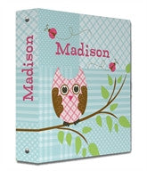 Quilted Owls Binder - frecklebox