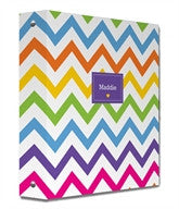 Rainbow Chevron Binder - frecklebox