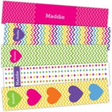 Rainbow Chevron Bookmarks - frecklebox - 1