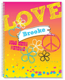 a personalized Rockin' Rainbow Sketchbook