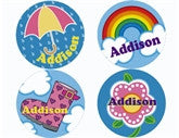 Showers and Flowers Personalized Stickers - frecklebox