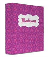 Skull Damask Binder - frecklebox