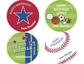 Sports Gift Personalized Stickers - frecklebox