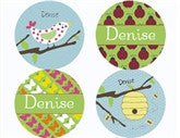 Spring Fling Personalized Stickers - frecklebox
