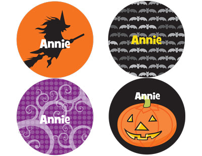 Halloween Personalized Stickers - frecklebox