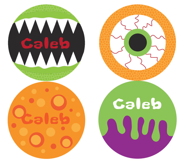 Scary Monster Personalized Stickers