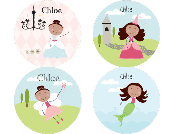 Brown Hair Fairy Tale Personalized Stickers - frecklebox
