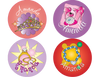 Princess Accessories Personalized Stickers - frecklebox