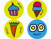 Todd Parr Food Personalized Stickers - frecklebox