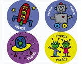Todd Parr Space Personalized Stickers - frecklebox