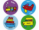 Todd Parr Transportation Personalized Stickers - frecklebox