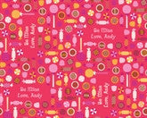 Valentine Candy Cream Wrapping Paper 12ft - frecklebox