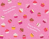 Valentine Cupcakes and Sprinkles Wrapping Paper 12ft - frecklebox