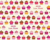 Valentine Cupcakes Wrapping Paper 6ft - frecklebox