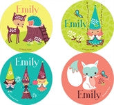 Woodland Gnomes Personalized Stickers - frecklebox