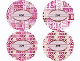XOXO Personalized Stickers - frecklebox