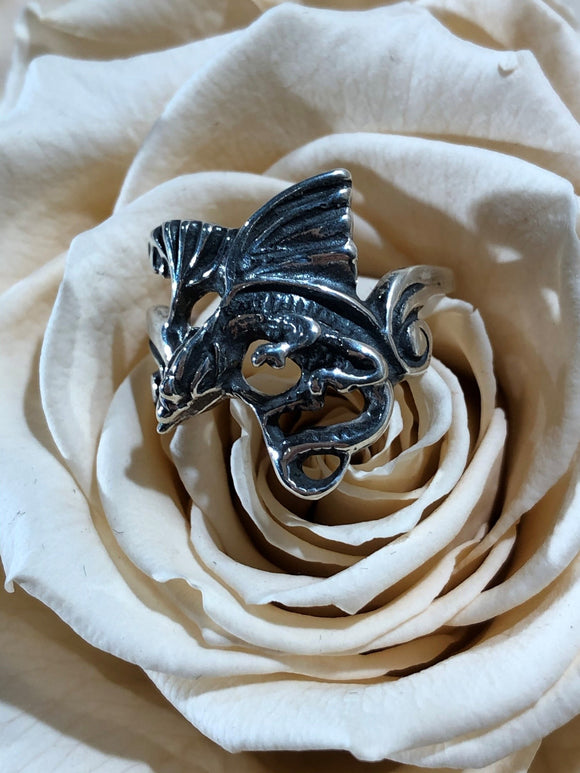 Dragon 925 Sterling Silver Ring Size 9.5
